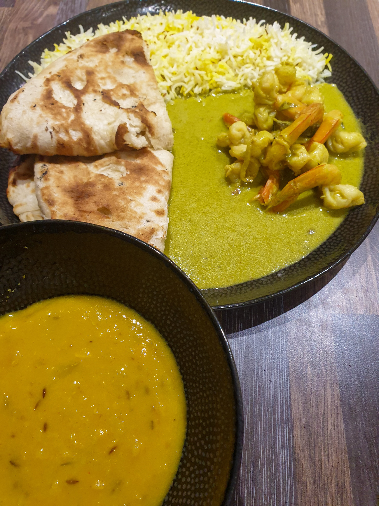 My Local Indian Kochi Prawn Curry and Dal Tadka